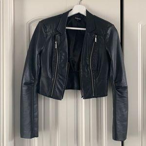 Bebe leather cropped jacket